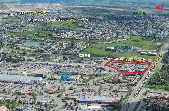 CROWFOOT CORNER ANNOTATED AERIAL