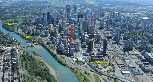 CALGARY PLACE ANNOTATED AERIAL 2020